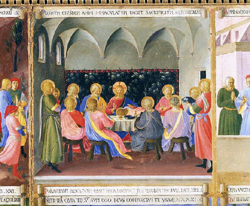 Last Supper From Scenes From the Life of Christ by Fra Angelico 15th c