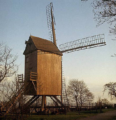 Old windmill in Cassel, in northwestern France
