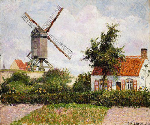 Mill in Knocke, Belgium by Camille Pissarro 1894
