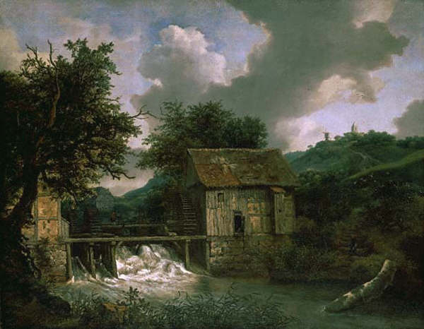 Two Watermills and an Open Sluice Near Singraven by Jacob van Ruisdael 1650-1652