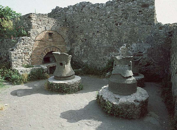Roman Mill and Bakery at Pompeii