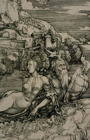 The Abduction of Amymone by Albert Durer