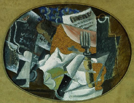 Tavern (The Ham) by Pablo Picasso 1914
