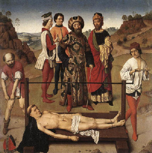Martyrdom of St Erasmus by Dieric Douts the Elder