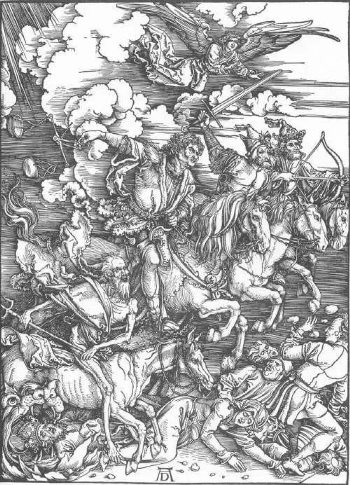 The Four Riders of the Apocalypse by Albrecht Durer 1497-98