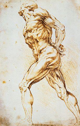 A Nude Striding to the Right His Hands Behind His Back by Peter Paul Rubens
