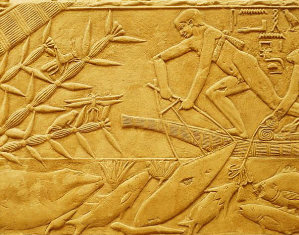 Net Fishing in the Reeds ca. 2300-2150 B.C.