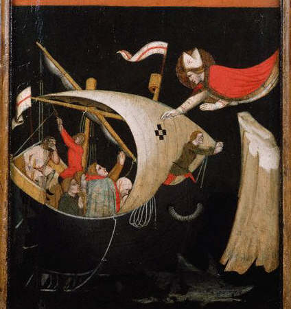 Panel Painting of Saint Nicholas Protecting Sailors by Vitale da Bologna 14th c