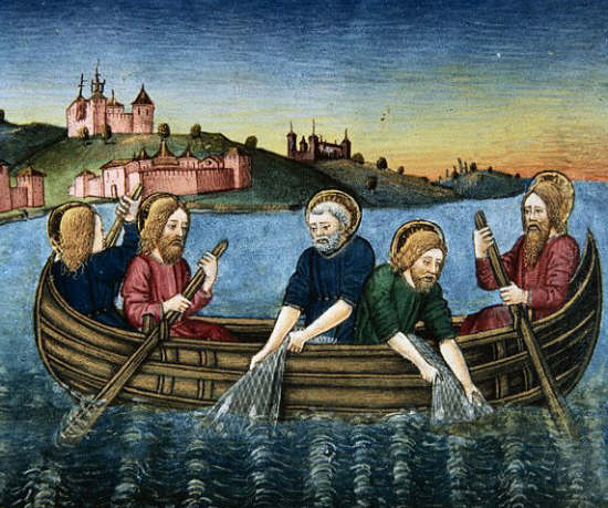 The Disciples Attempt to Fish in Lake Tiberias without Success by Cristoforo de Predis