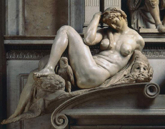 Night from the Tomb of Giuliano de' Medici by Michelangelo Buonarroti