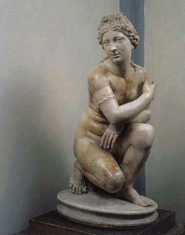 Ancient Roman Copy of Kneeling Venus Sculpture