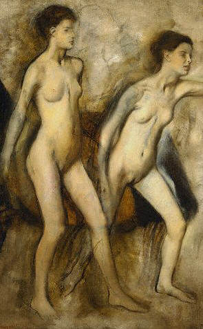 Young Spartan Girls Provoking the Boys by Edgar Degas 1860