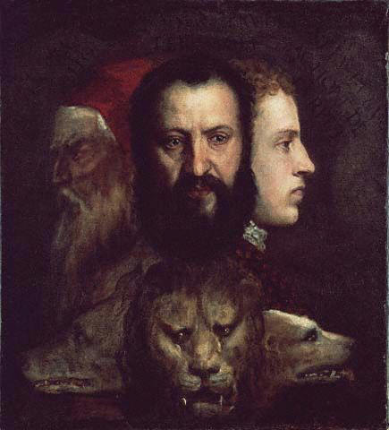 The Allegory of Prudence by Titian. National Gallery, London