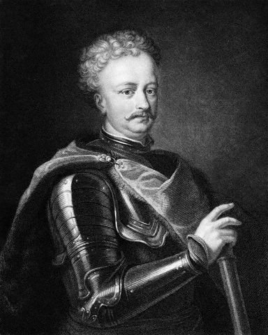 Portrait of Peter The Great. Engraving by Thompson
