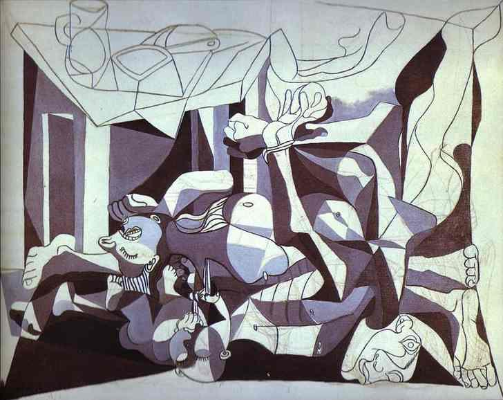 The Charnel House by Pablo Picasso. 1944-45