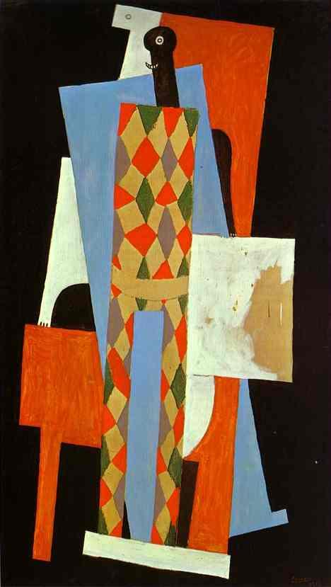 Harlequin by Pablo Picasso. 1915