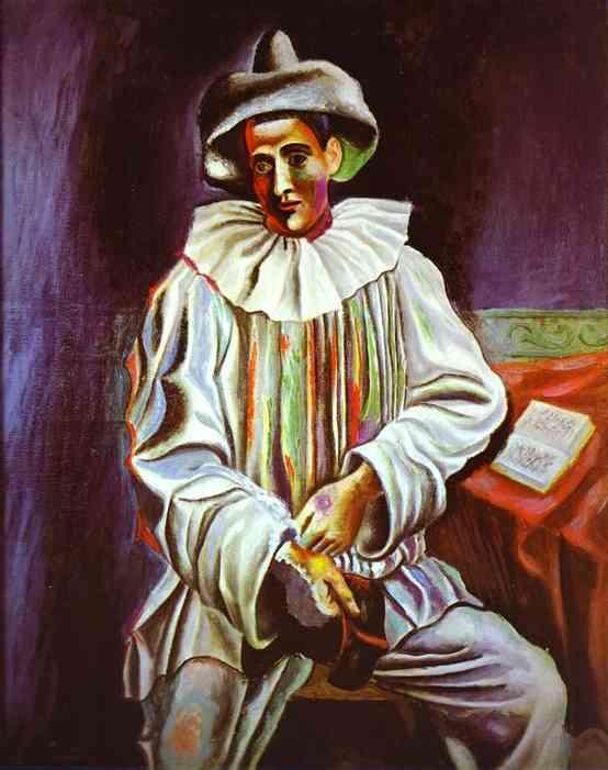 Pierrot by Pablo Picasso. 1918