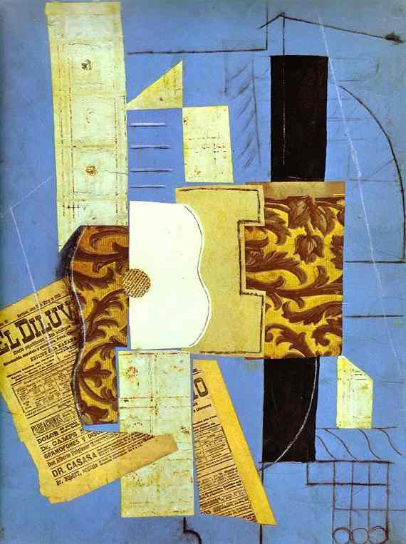 Guitar by Pablo Picasso. 1913
