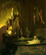 Rembrandt. The raising of Lazarus
