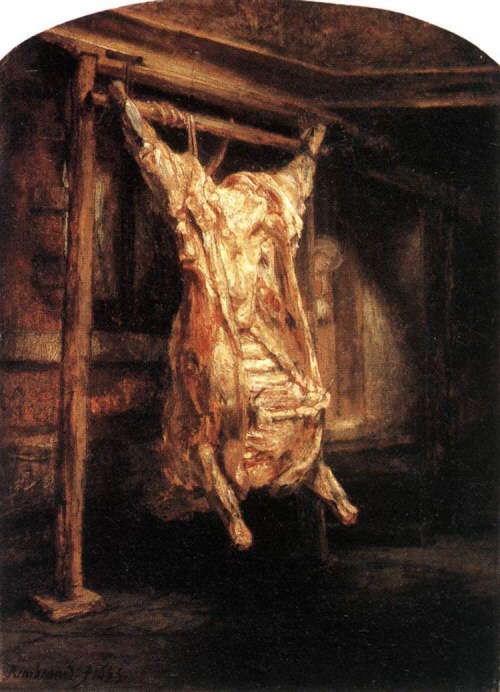The Flayed Ox by Rembrandt