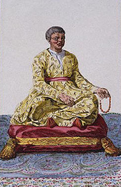 Portrait of the Dalai Lama by Pierre Duflos 1780