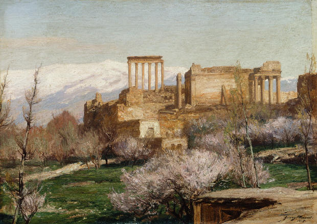 View of Baalbek, Lebanon by George Macco 1905