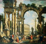 A Capriccio of Classical Ruins by Giovanni Paolo Panini 18th century