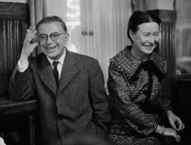 Jean-Paul Sartre and Simone de Beauvoir 1959