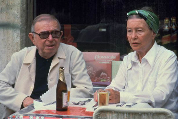 Jean-Paul Sartre and Simone de Beauvoir in Rome, 1978