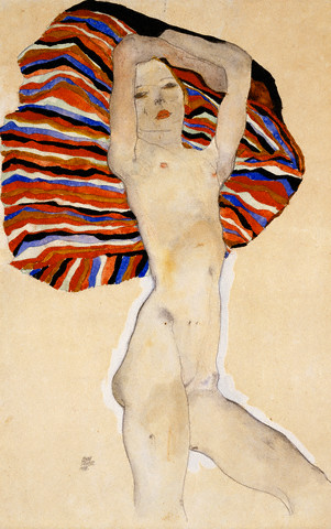 Act Against Colored Material by Egon Schiele 1911