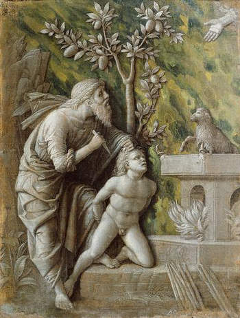 The Sacrifice of Isaac by Andrea Mantegna 15th с