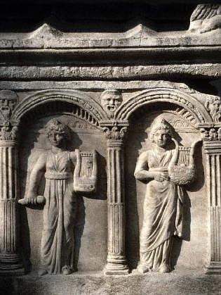 Tomb Sculpture of Women With Lyres