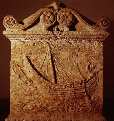 Sarcophagus With a Phoenician Trading Ship Known as the Boat of Tarsus 1st century A.D.