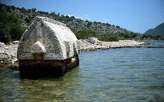 The Submerged Harbour of Aperlae: Lycian Sarcophagus