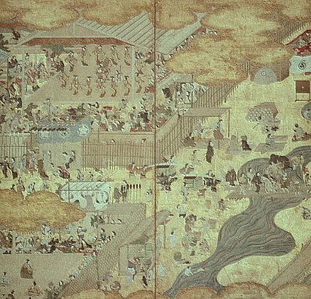 Shijo River by Hanabusa Itcho ca. 1615-1668
