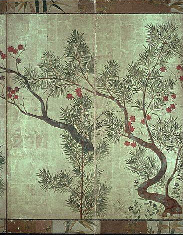 Shinfu Screen by Ogata Korin 17th c