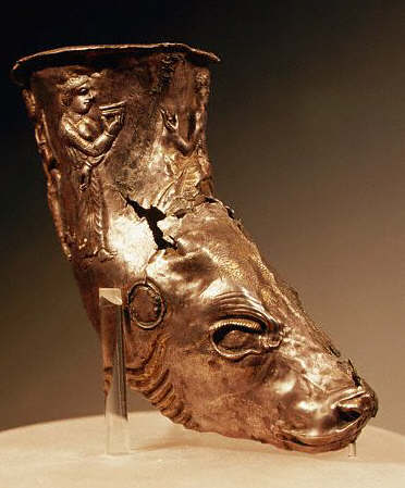 Scythian Animal Head Rhyton with Human Figures 5th-4th c B.C.