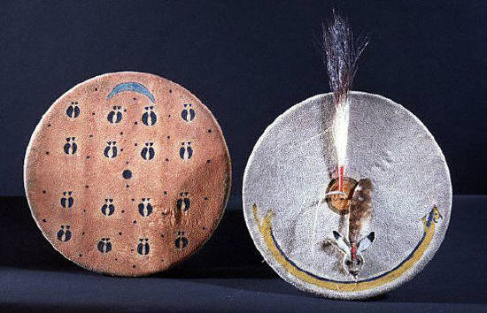Pair of shields from the Plains Indians of the USA