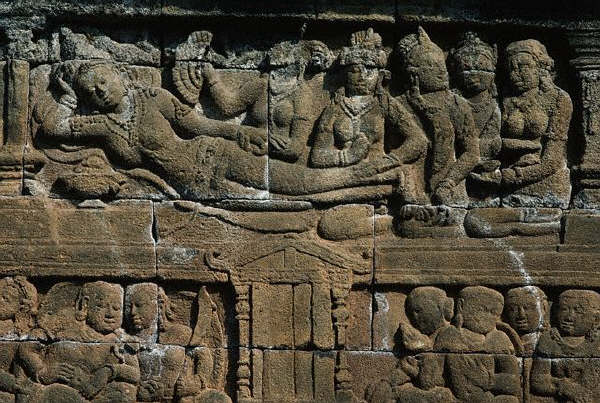 Relief Sculpture of Queen Maya and Servants