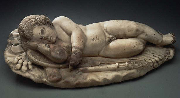 Cupid Sleeping on the Weapons of Hercules 1st c A.D.