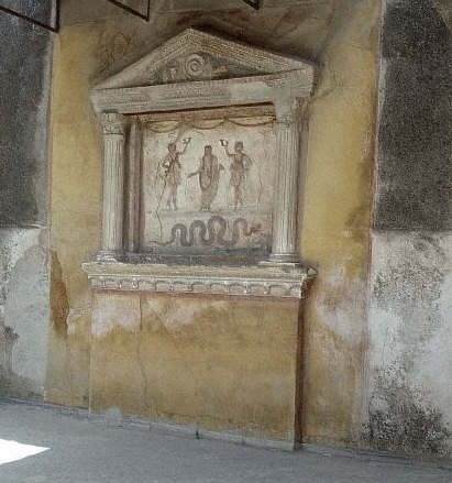 Aedicule in the House of the Vettii at Pompeii
