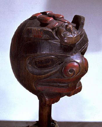 Wooden Shaman's Rattle