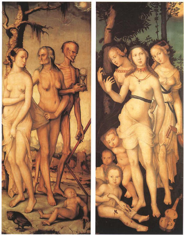 Three Ages of Man and Three Graces by Hans Baldung Grien