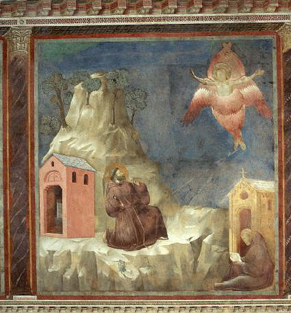 St. Francis Receiving the Stigmata by Giotto 1297-1300