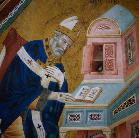 Saint Ambrose from Doctors of the Church by Giotto