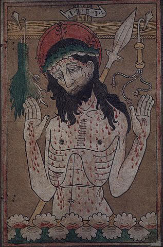 Germanic Renaissance Illustration of Christ with Wounds