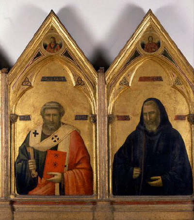 Saint Peter and Saint Benedict from the Badia Polyptych by Giotto di Bondone