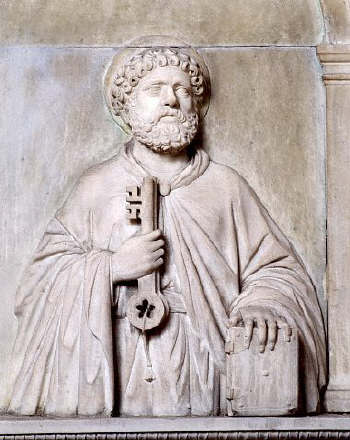Bas-Relief Sculpture of Saint Peter