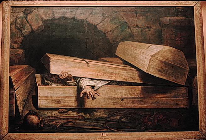 The Premature Burial by Antoine Wiertz, 1854