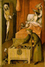 Death and the miser by Hieronymus Bosch 1490